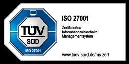 TÜV Süd DIN ISO27001 zertifiziertes Informationssicherheitsmanagementsystem